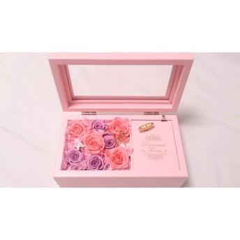 【母の日 日にち指定OK!】オルゴール フラワーアレンジ Pink【プレゼント】