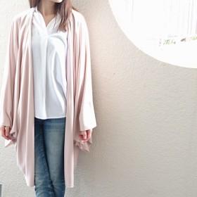 再販:粋☆きものジャケット・ライト・ニット/ロング丈