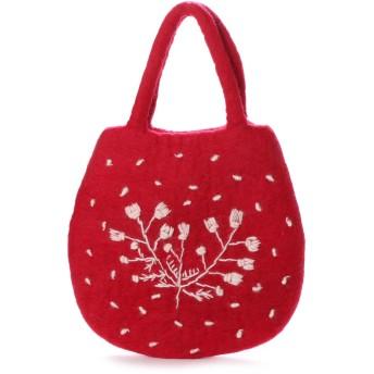 KANKAN  カンカン フェルトデイジー刺繍卵型バッグ