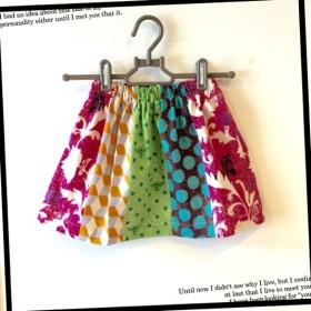 カラフルパッチのお姉ちゃんスカート