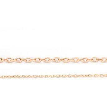 【1.5m】 4mm×5.5mm 線径1mm あずきチェーン 高品質 マットゴールド ネックレス ピアスに・チェーンパーツ