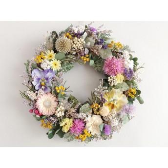 野の花のリース(ペッパーベリー):ドライフラワー・リース・プリザーブドフラワー