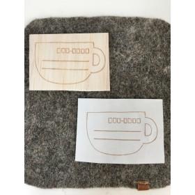 コーヒーカップ型の宛名枠