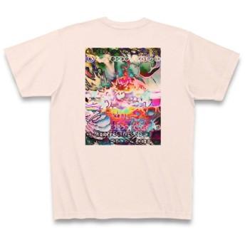 有効的異常症候群龍目◆アート文字◆ロゴ◆ヘビーウェイト◆半袖◆Tシャツ◆ライトピンク◆各サイズ選択可