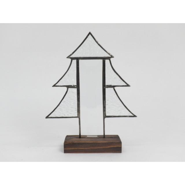 ステンドグラス クリスマスツリー ベベルクリアー