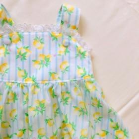 90cm レモン柄サマードレス
