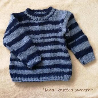 子供用あったか手編みのセーター