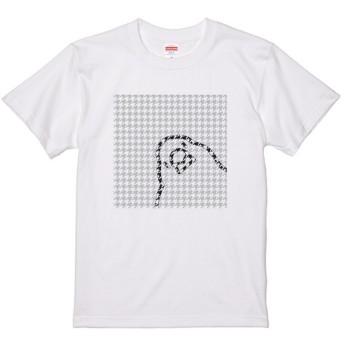 レディース文鳥Tシャツ 「千鳥格子文鳥」 【受注生産】