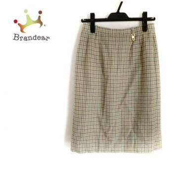 ダックス DAKS スカート サイズ69-94 レディース ブラウン×ネイビー×マルチ チェック柄   スペシャル特価 20200115