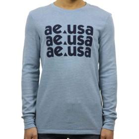 [アメリカンイーグル] AMERICAN EAGLE 正規品 メンズ サーマル クルーネック長袖Tシャツ ロンT AE Beyond-Soft Thermal 1175-3855-100 L 並行輸入品 (コード:4129530407-4)