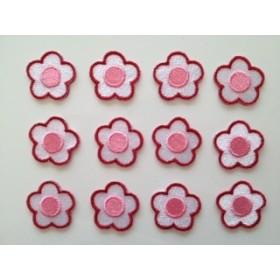 【ワッペン】お花(3) 12枚セット★アイロン接着可★★きらりぼん