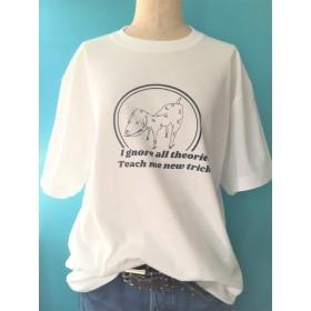 【2枚以上購入で30%OFF(30% off for purchase of 2 or more)】コットンオリジナルTシャツ THEORIES DOG(犬)