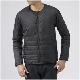 メンズ ジャケット ブレスサーモサーモブリッドノーカラージャケット(Sサイズ/ブラック) B2ME9558