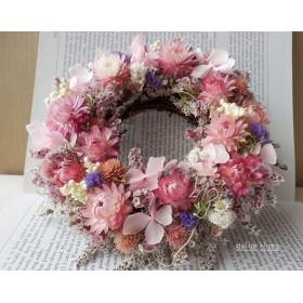 atelier blugra八ヶ岳〜春いろピンク小花のWreath05