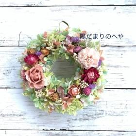 クラシックピンクのグリーンリース #誕生日・記念日ギフト #新築・引っ越し祝い #夏リース #