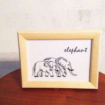 インテリア刺繍 「elephant」