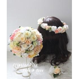 プリザのブライダルブーケ *ブートニア* 造花の花冠*
