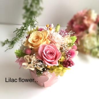 母の日にも パステルハート お花の贈り物 ブリザードフラワー お誕生日 母の日 結婚お祝い
