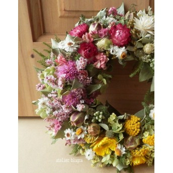 atelier blugra八ヶ岳〜 ミントと小花のWreath