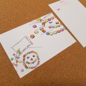 no.9「sweetdays」デコはがきポストカード