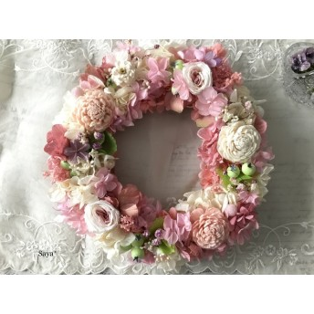 Antique Rose x Hydrangea  wreath  リース ギフト
