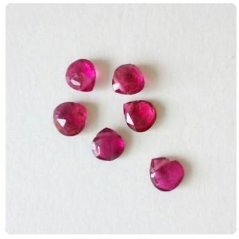 ∴天然石ビーズ∵ 宝石質 ピンクトルマリン マロンブリオレットカット 濃いめ