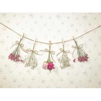2色のバラのピンクふんわりガーランド