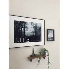 LIFE IS BEAUTIFUL フォトアート ポスター