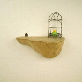 【温泉流木】縞メノウのように美しい木目の流木壁掛けラック ウォールラック 流木インテリア