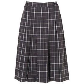 【Green Parks:スカート】大柄チェックプリーツスカート