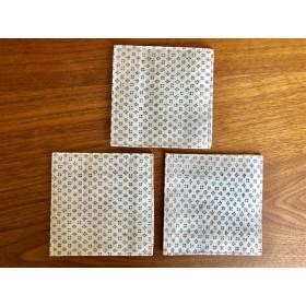 紬の生地のコースター 3枚セット 和雑貨