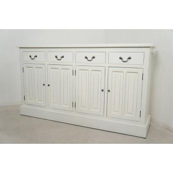 アンティーク調 レジ台 カウンター 店舗什器 収納棚 無垢 ホワイト