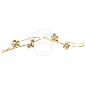 ERG-106-MG【2個入り】キュービックジルコニアフラワーピアス,CZ flower Hook Earrings