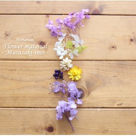 【ハーバリウムキット】ハーバリウム花材セット1本分(紫芋スイーツ)