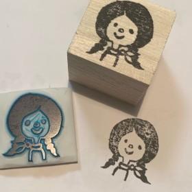 三つ編み女の子 スタンプ