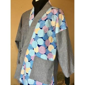 青い花の春作務衣