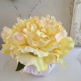 sale フラワー サシェ イエロー ピオニー 香りのクッション アーティフィシャルフラワー フラワーギフト 母の日ギフト