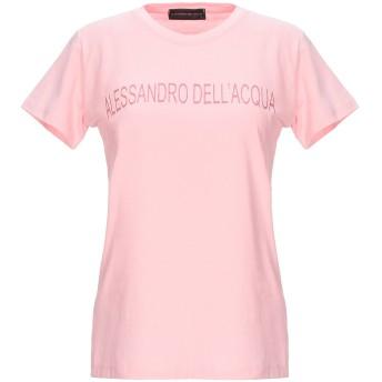 《セール開催中》ALESSANDRO DELL'ACQUA レディース T シャツ ピンク XS コットン 100%