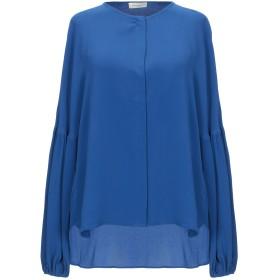 《セール開催中》BRUNO MANETTI レディース シャツ ブルー 42 アセテート 62% / シルク 38%
