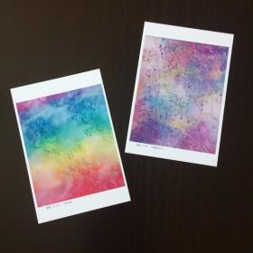 【2枚組】パズルの油絵ポストカード