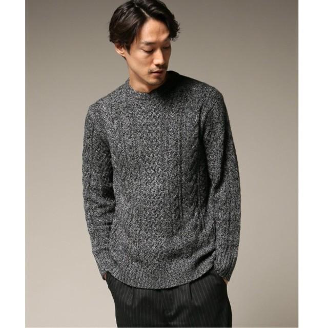 [マルイ] メンズセーター(カシミヤMIXアランクルーネック)/417エディフィス(417 EDIFICE)