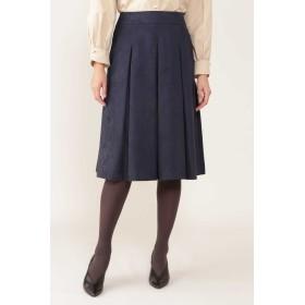 NATURAL BEAUTY ◆[Jクオリティ]エルモザスエードボックスプリーツスカート ひざ丈スカート,ネイビー