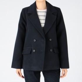 MELROSE CLAIRE(メルローズ クレール)/両面起毛暖かメルトンピーコート
