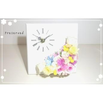 花時計 ブリザーブドフラワー時計 ブリザ時計 時計 結婚祝い プレゼント 誕生日 ギフト 新築祝い