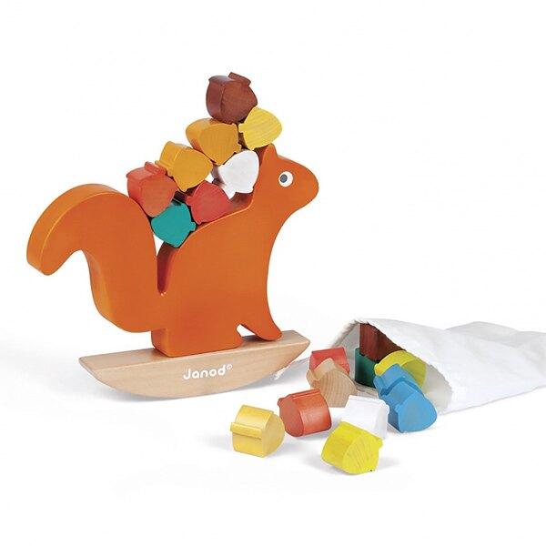 Janod  經典設計木玩 貪吃的松鼠