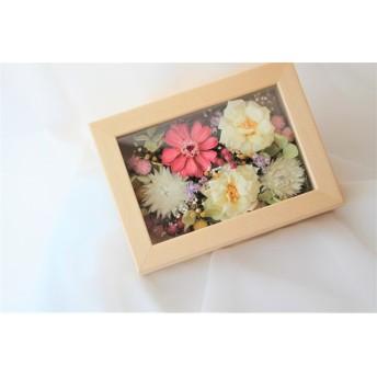 【母の日ギフト】 ウッドフレームのお花