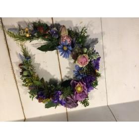 馬蹄形リース紫系