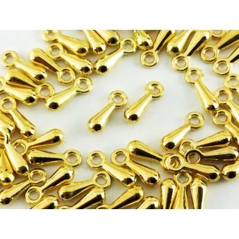 送料無料 アジャスター チェーン 用 金具 しずく 型 ゴールド 50個 ネックレス チョーカー ブレスレット パーツ アクセサリー ピアス 等 チャーム にも (AP0366)