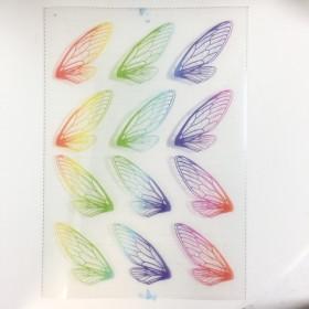 送料無料!(1枚入り)レジン封入シート~カラフル蝶羽~
