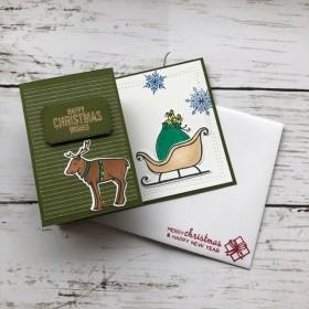広がるクリスマスカード(緑)